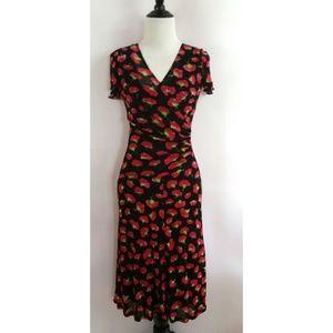 Karen Kane Size S Floral Day to Night Dress